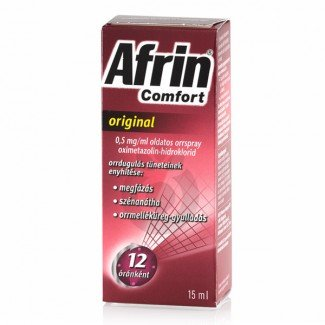 Afrin Comfort original 0,5mg/ml oldatos orrspray (15ml)