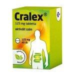 Cralex 125 mg tabletta (régi neve: Carbo activatus EGIS) (40x)