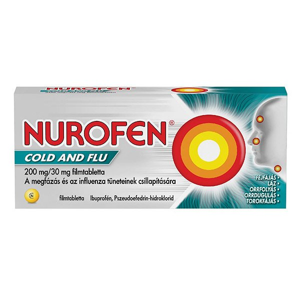 Nurofen Cold and Flu 200mg/30mg filmtabletta (12x)