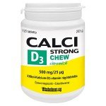 Vitabalans oy Calci Strong + D3-vitamin Chew tabletta (120x)