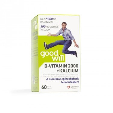 Goodwill D-vitamin 2000 NE + Kalcium tabletta (60x)