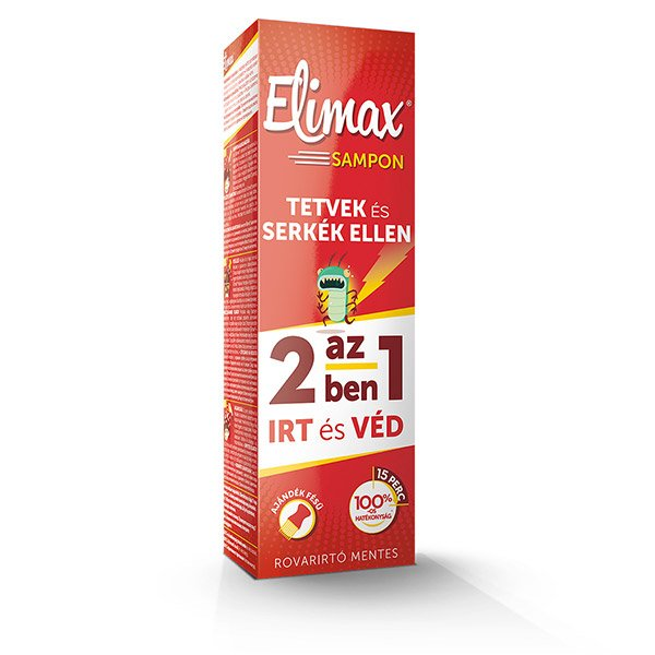 Elimax tetüírtó sampon fésűvel (100ml)